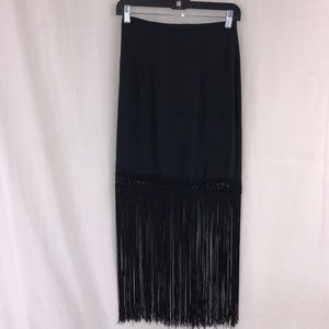 Rinzi Black Flapper Like Skirt Vintage